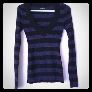 Midnight blue glitter sweater